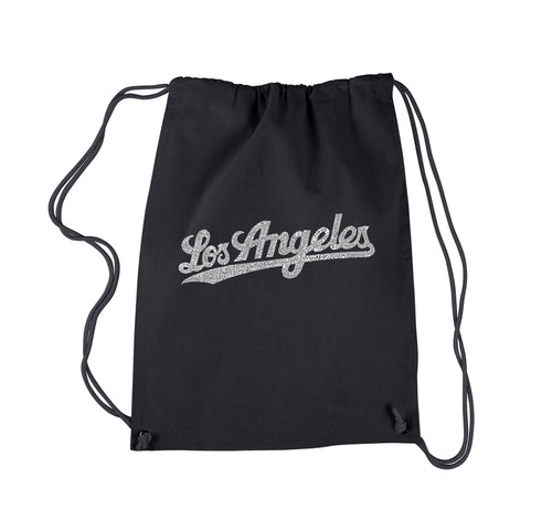 LA Pop Art Drawstring Backpack - LOS ANGELES NEIGHBORHOODS