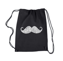 Load image into Gallery viewer, LA Pop Art Drawstring Backpack - WAYS TO STYLE A MOUSTACHE