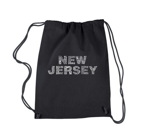 LA Pop Art Drawstring Backpack - NEW JERSEY NEIGHBORHOODS