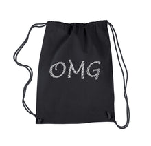 Load image into Gallery viewer, LA Pop Art Drawstring Backpack - OMG
