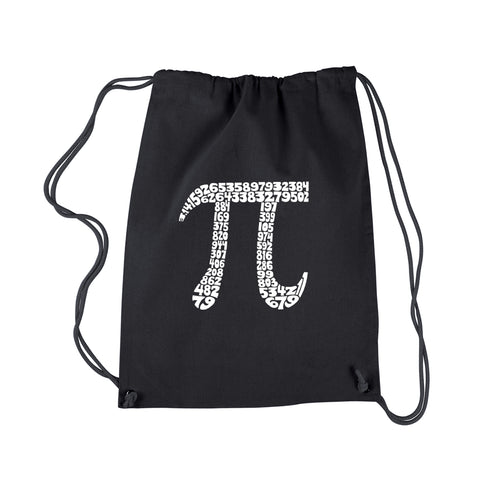 LA Pop Art Drawstring Backpack - THE FIRST 100 DIGITS OF PI