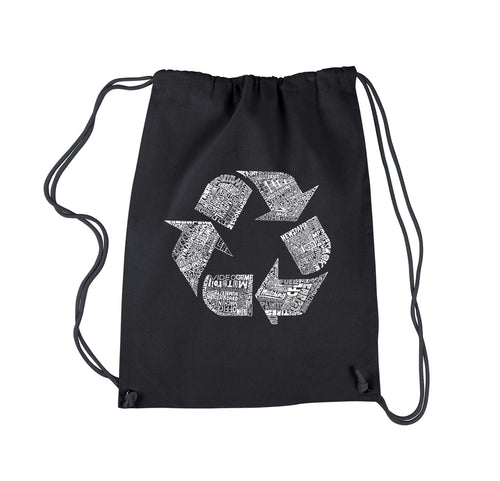 LA Pop Art Drawstring Backpack - 86 RECYCLABLE PRODUCTS