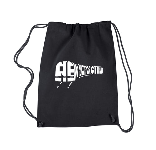 LA Pop Art Drawstring Backpack - NY SUBWAY