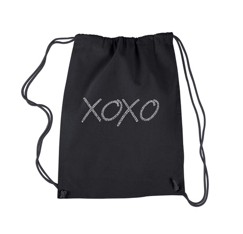 LA Pop Art Drawstring Backpack - XOXO