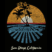 Load image into Gallery viewer, LA Pop Art Men's Premium Blend Word Art T-shirt - Cities In San Diego