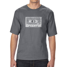 Load image into Gallery viewer, LA Pop Art Men's Tall Word Art T-shirt - The 80's