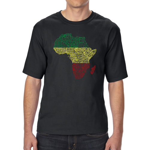 LA Pop Art Men's Tall Word Art T-shirt - Countries in Africa