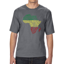 Load image into Gallery viewer, LA Pop Art Men's Tall Word Art T-shirt - Countries in Africa