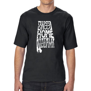 LA Pop Art Men's Tall Word Art T-shirt - Sweet Home Alabama