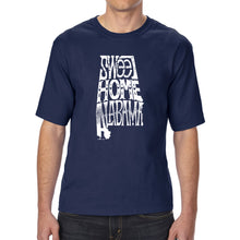 Load image into Gallery viewer, LA Pop Art Men's Tall Word Art T-shirt - Sweet Home Alabama
