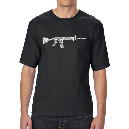 LA Pop Art Men's Tall Word Art T-shirt - AR15 2nd Amendment Word Art