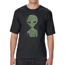 Load image into Gallery viewer, LA Pop Art Men's Tall Word Art T-shirt - Alien