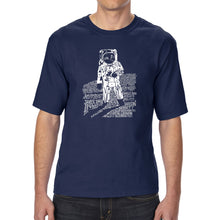 Load image into Gallery viewer, LA Pop Art Men's Tall Word Art T-shirt - ASTRONAUT