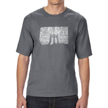 Load image into Gallery viewer, LA Pop Art Men's Tall Word Art T-shirt - Brooklyn Bridge