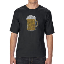 Load image into Gallery viewer, LA Pop Art Men's Tall Word Art T-shirt - Slang Terms for Being Wasted