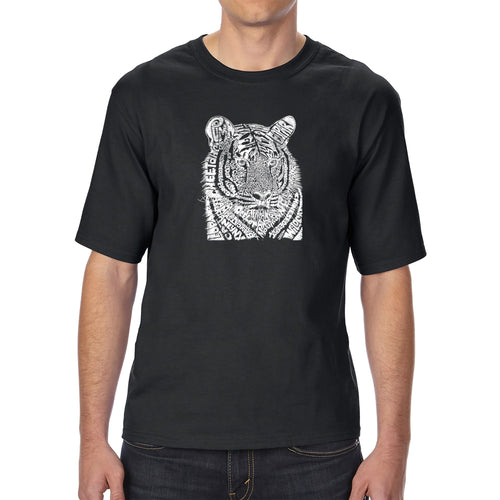 LA Pop Art Men's Tall Word Art T-shirt - Big Cats