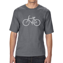 Load image into Gallery viewer, LA Pop Art Men's Tall Word Art T-shirt - SAVE A PLANET, RIDE A BIKE