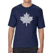 Load image into Gallery viewer, LA Pop Art Men's Tall Word Art T-shirt - CANADIAN NATIONAL ANTHEM