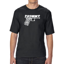 Load image into Gallery viewer, LA Pop Art Men's Tall Word Art T-shirt - Out of My cold Dead Hands Gun