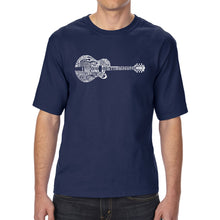 Load image into Gallery viewer, LA Pop Art Men's Tall Word Art T-shirt - Country Guitar