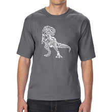 Load image into Gallery viewer, LA Pop Art Men's Tall Word Art T-shirt - Dino Pics