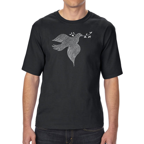 LA Pop Art Men's Tall Word Art T-shirt - Dove