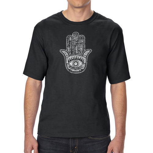 LA Pop Art Men's Tall Word Art T-shirt - Hamsa