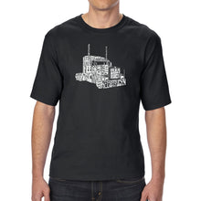 Load image into Gallery viewer, LA Pop Art Men's Tall Word Art T-shirt - KEEP ON TRUCKIN'