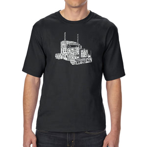 LA Pop Art Men's Tall Word Art T-shirt - KEEP ON TRUCKIN'