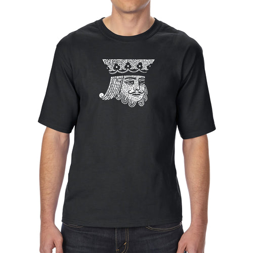LA Pop Art Men's Tall Word Art T-shirt - King of Spades