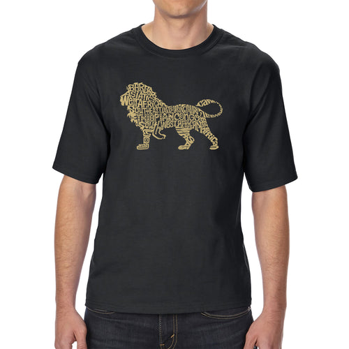 LA Pop Art Men's Tall Word Art T-shirt - Lion