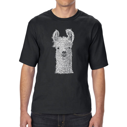 LA Pop Art Men's Tall Word Art T-shirt - Llama