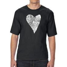 Load image into Gallery viewer, LA Pop Art Men's Tall Word Art T-shirt - Lots of Love