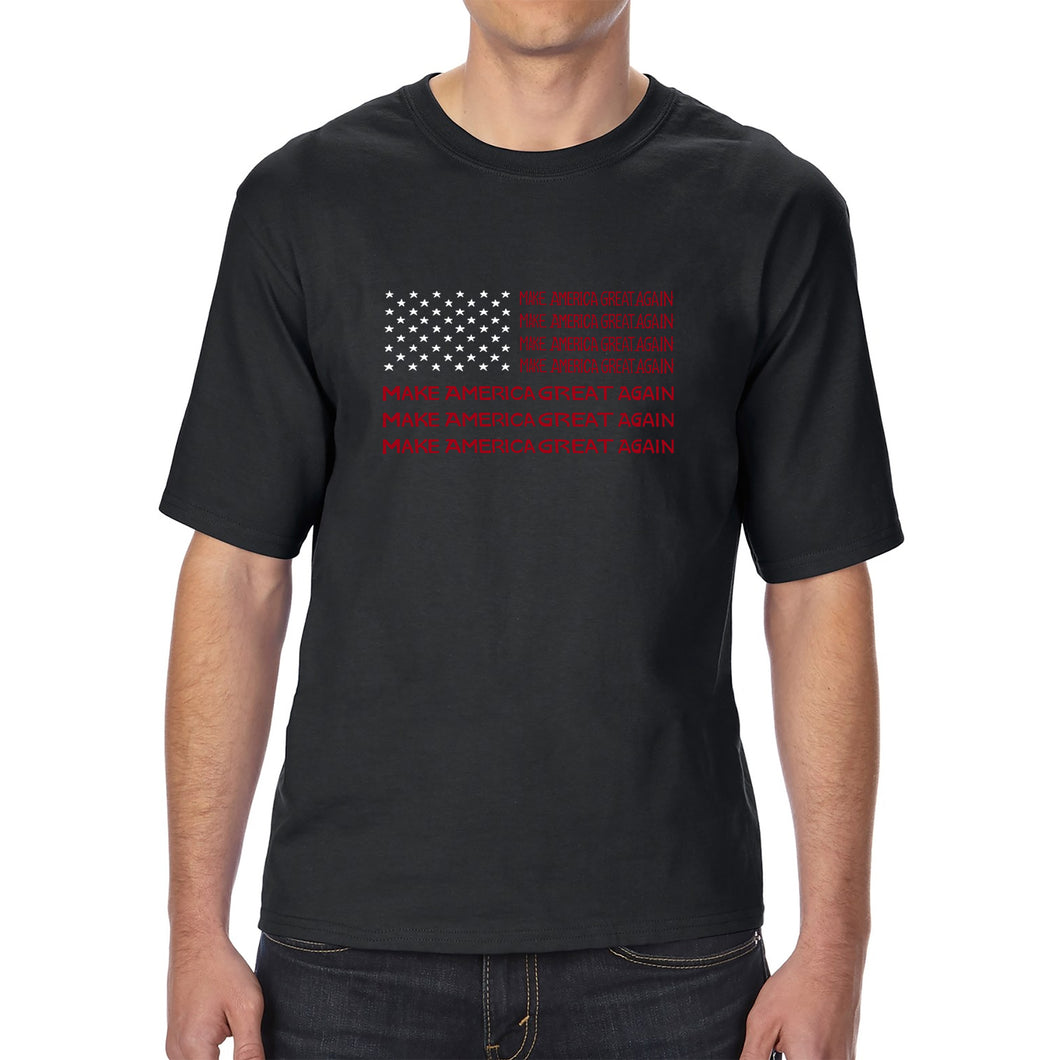 LA Pop Art Men's Tall Word Art T-shirt - Maga Flag