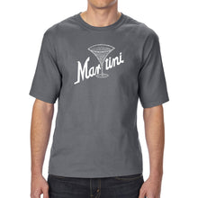 Load image into Gallery viewer, LA Pop Art Men's Tall Word Art T-shirt - Martini