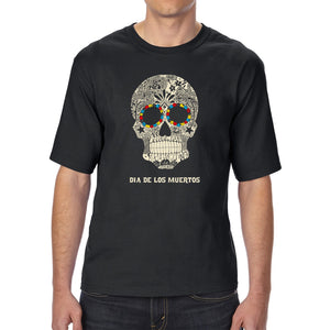 LA Pop Art Men's Tall Word Art T-shirt - Dia De Los Muertos