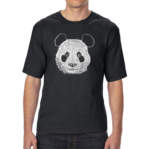 LA Pop Art Men's Tall Word Art T-shirt - Panda