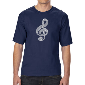 LA Pop Art Men's Tall Word Art T-shirt - Music Note