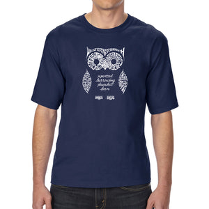 LA Pop Art Men's Tall Word Art T-shirt - Owl