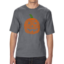 Load image into Gallery viewer, LA Pop Art Men's Tall Word Art T-shirt - Pumpkin