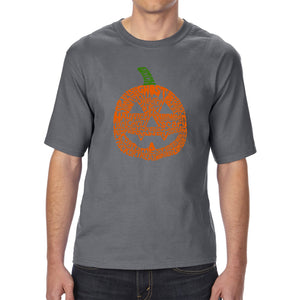LA Pop Art Men's Tall Word Art T-shirt - Pumpkin