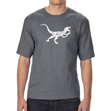 Load image into Gallery viewer, LA Pop Art Men's Tall Word Art T-shirt - Velociraptor