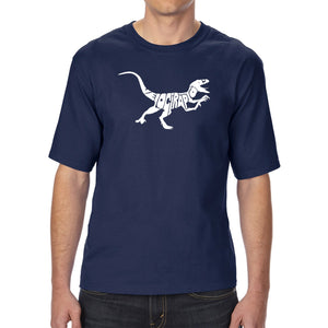 LA Pop Art Men's Tall Word Art T-shirt - Velociraptor