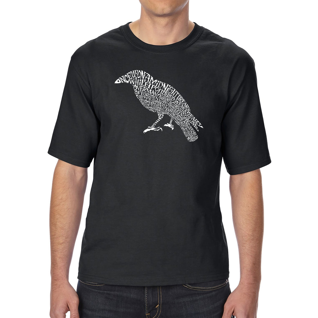 LA Pop Art Men's Tall Word Art T-shirt - Edgar Allan Poe's The Raven
