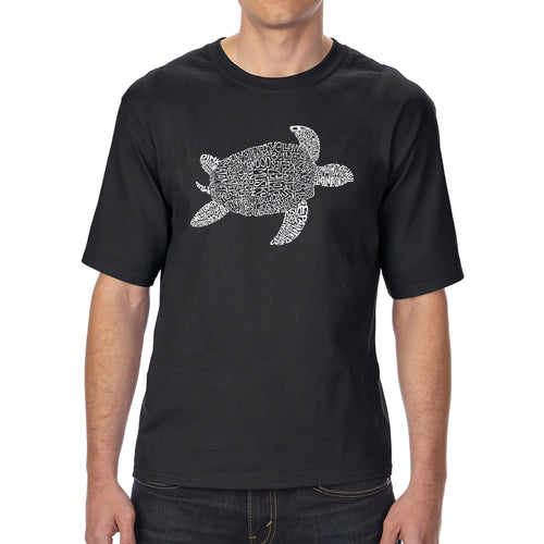LA Pop Art Men's Tall Word Art T-shirt - Turtle