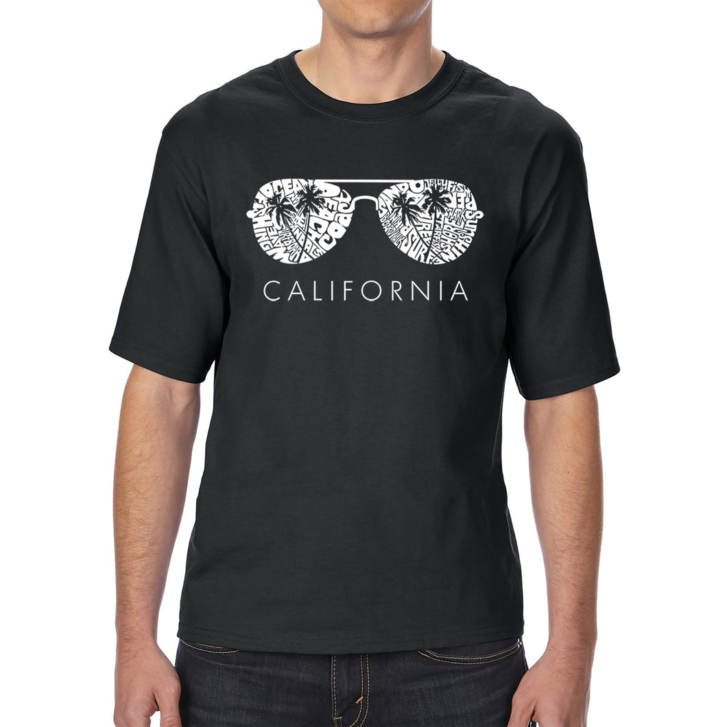 LA Pop Art Men's Tall Word Art T-shirt - California Shades