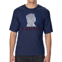 Load image into Gallery viewer, LA Pop Art Men's Tall Word Art T-shirt - Keep America Great - Donald Trump