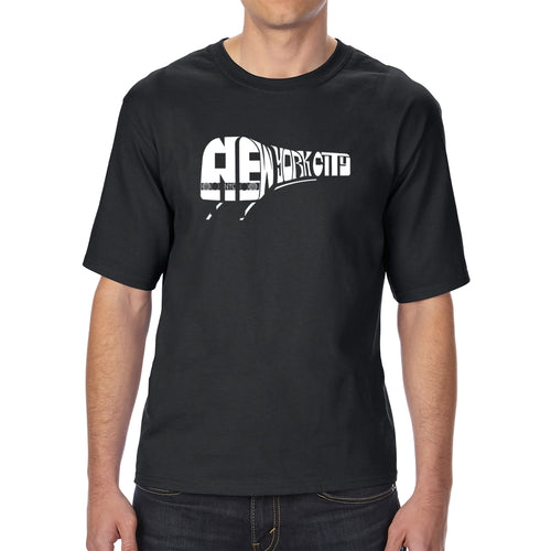 LA Pop Art Men's Tall Word Art T-shirt - NY SUBWAY