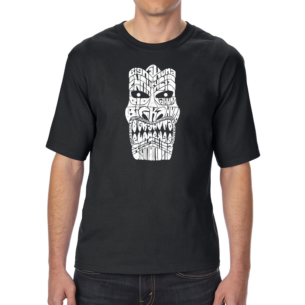 LA Pop Art Men's Tall Word Art T-shirt - TIKI - BIG KAHUNA