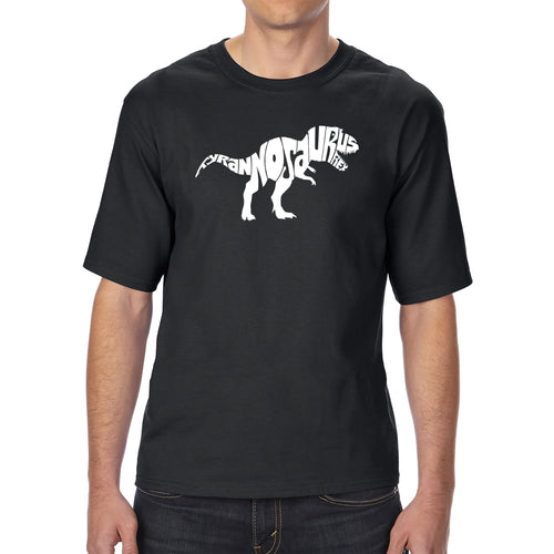 LA Pop Art Men's Tall Word Art T-shirt - TYRANNOSAURUS REX